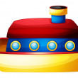 Stock Vector: A toy ship