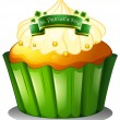 A cupcake for the celebration of St. Patrick's day — Stock Vector