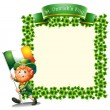 An empty frame for St. Patrick's day — Stock Vector