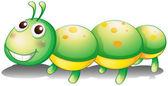 A green caterpillar toy — Stock Vector