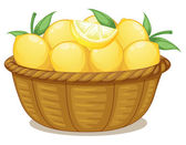 A basket of lemons — Stock Vector