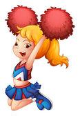 An energetic cheerleader — Stock Vector