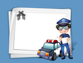 A blank stationery with a policeman — Stock Vector