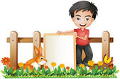 A boy and a bunny — Stock Vector