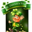 Royalty-Free Stock Vector Image: A card template for St. Patrick\'s Day