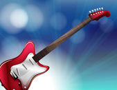 A red electric guitar — Stock Vector