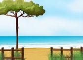 A quiet beach — Stock Vector