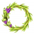 Royalty-Free Stock : A round frame with vine grapes