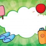 An empty cloud template for summer — Stock Vector #22821518