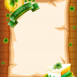 A blank paper with St. Patrick&#039;s Day greeting - Image vectorielle