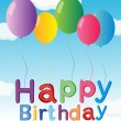 Royalty-Free Stock Vector Image: The happy birthday greeting with balloons
