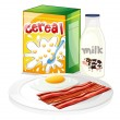 Vector de stock : Complete breakfast meal