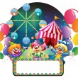 Three funny clowns in a carnival — Stock Vector #22822322