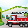 Utility truck at gasoline station — Vetorial Stock #22822508