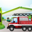 Utility truck at gasoline station — Stock vektor #22822508