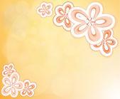 Une papeterie conçue fleurie — Vecteur