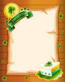 A blank paper with St. Patrick's Day greeting — Stock Vector