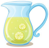 A pitcher of lemon juice — Stock Vector