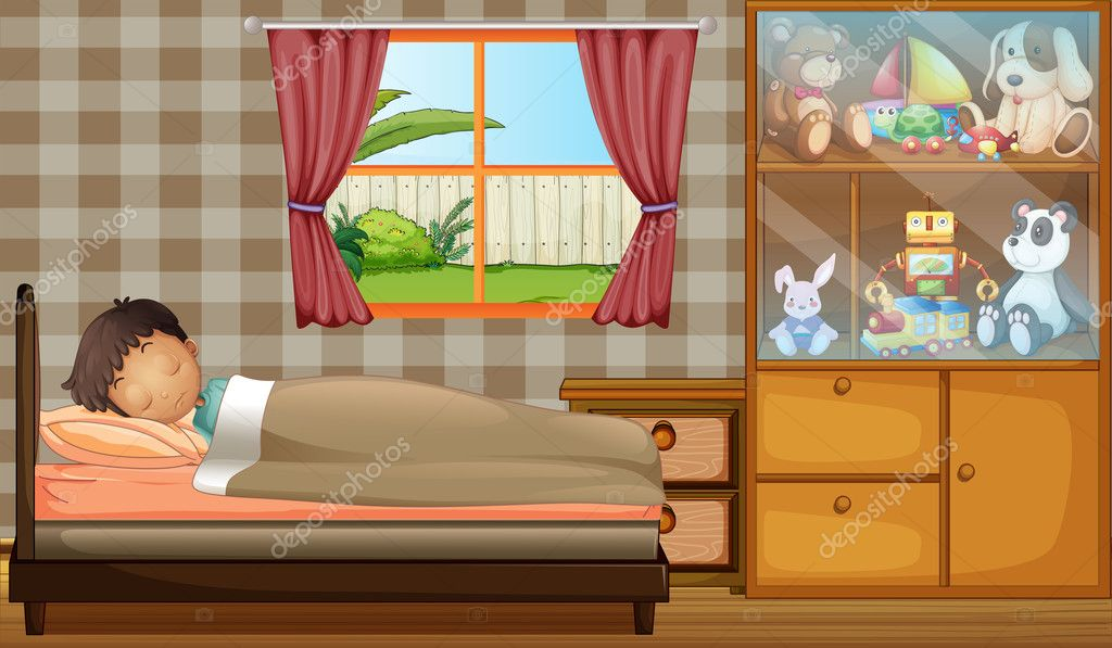 Illustration Cartoon Wooden Bed Pics Stock Photos All Sites