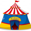 A colorful circus tent - Stock Vector