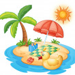 Royalty-Free Stock Vector Image: Summer at the beach
