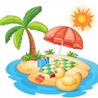 Royalty-Free Stock Vectorielle: Summer at the beach