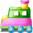 Stock Vector: A colorful toy car