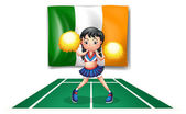 The flag of Ireland and the cheerdancer — Stock Vector
