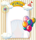 A circus entrance with balloons — Stock Vector