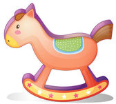 A wooden horse toy — Stock Vector