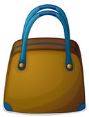 A bag with a blue handle — Stock Vector