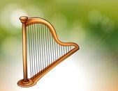 A golden harp — Stock Vector