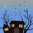 A haunted house — Stock Vector