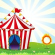 A circus tent and the ring with fire — Stock Vector