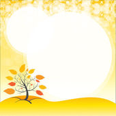 A blank space with an autumn tree — Stock Vector