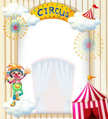 A clown in the circus — Stock Vector