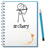 A notebook with an archery design — Stock Vector