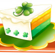 A slice of cake for the celebration of St. Patrick's day — Stock Vector
