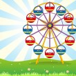 A ferris wheel at the hilltop — Stock Vector #23356492