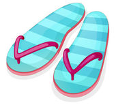 Blue stripe sandal — Stock Vector