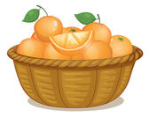 A basket full of oranges — Stock Vector