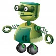 A green robot — Stock Vector #23431632