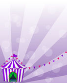 A violet circus tent — Stock Vector