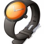 A black watch — Stock Vector