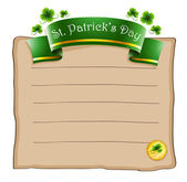 A paper with a St. Patrick's Day signage — Stock Vector