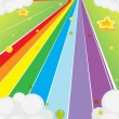 A colorful road - Stock Vector