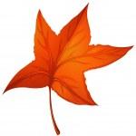 A star-shaped autumn leaf — Stock Vector #23773027