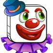 A clown's face — Stock Vector