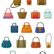 Different designs of bags — Stock Vector