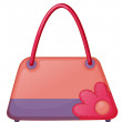 A pink fashion bag - Stock vektor